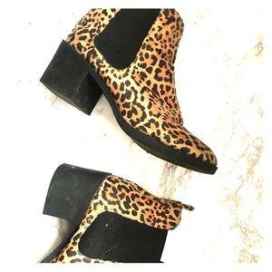 H&M Leopard print booties